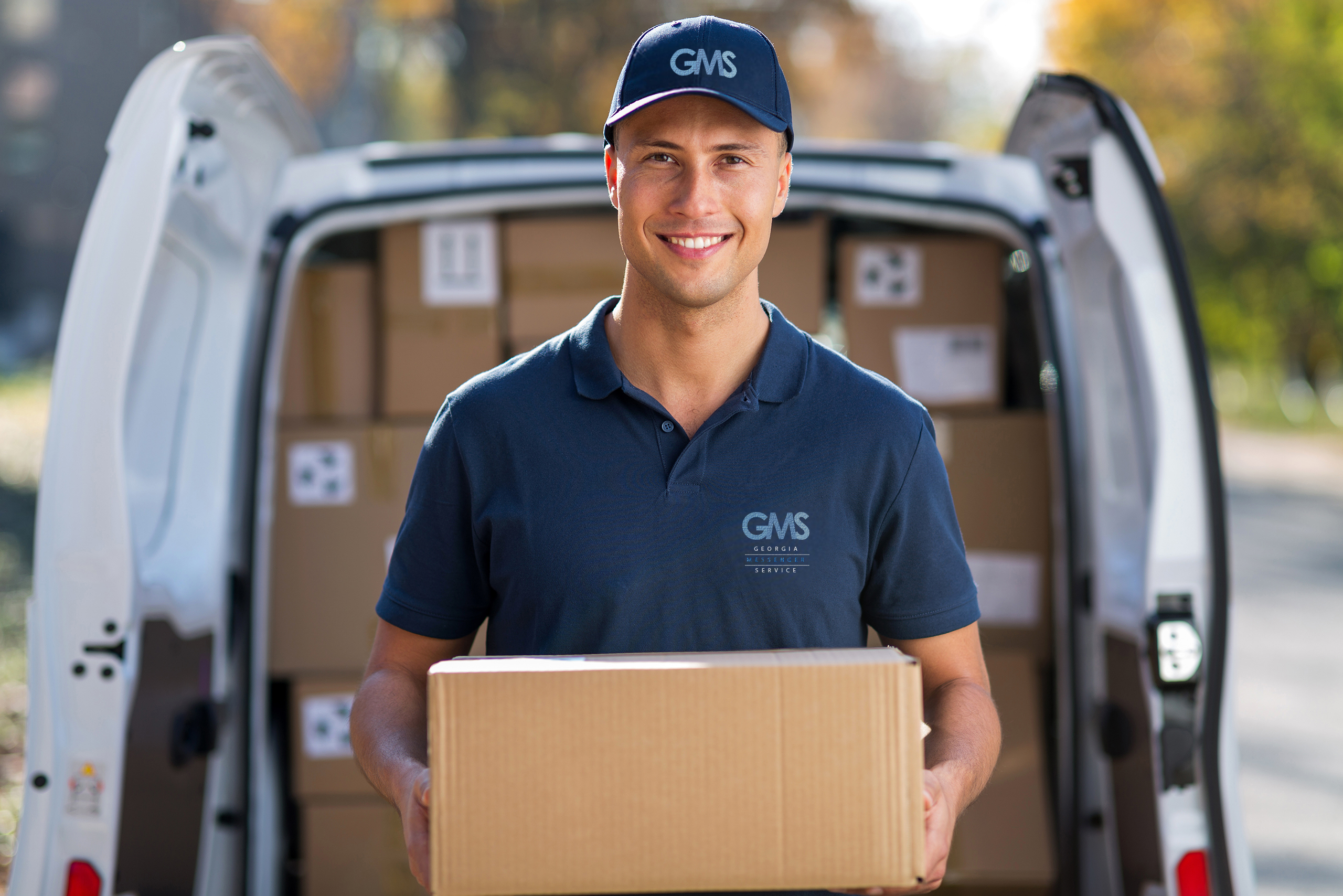 Delivery Driver with box